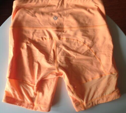 Lululemon Orange Shorts Size 4 Spinerette Bike Sho