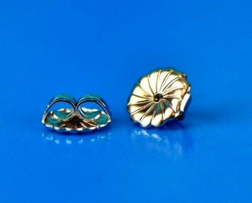 14K White /& Yellow Solid Gold Earring Back Butterfly by Pc!!!