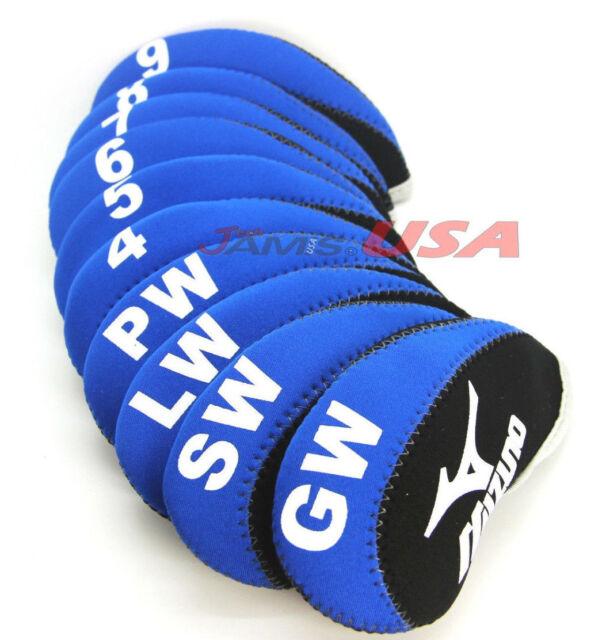 MIZUNO Blue   Black Color Golf Iron HeadCover 10 pcs Set Head Covers  Neoprene US 5887756a21