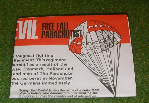 Vintage Action Man 40th manuel notice Red Devil chute libre parachutiste