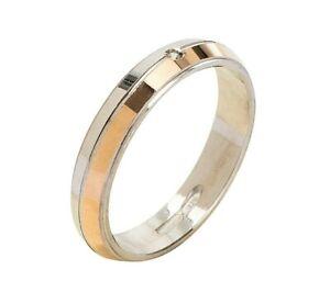 Anello-Fede-Fedina-Fidanzamento-in-Argento-925-Uomo-Donna-Oro-Solitario-Incision
