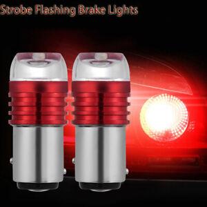 2X-Rojo-1157-BAY15D-P21-5W-Strobe-Flash-Luz-Led-Parpadeo-De-Freno-Cola-Reverse-BUL-Hx
