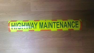 Sticker with chevrons Highway Maintenance Sign 600x100mm