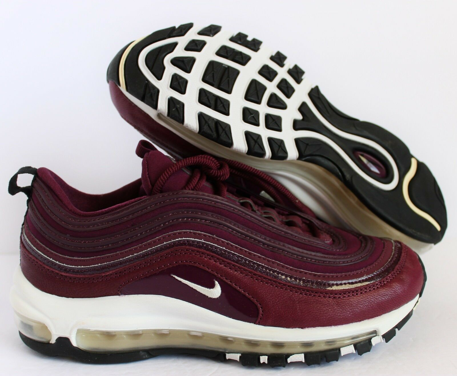 Nike Women Air Max 97  BORDEAUX MUSLIN-BLACK  sz 7 [917646-601] Sample