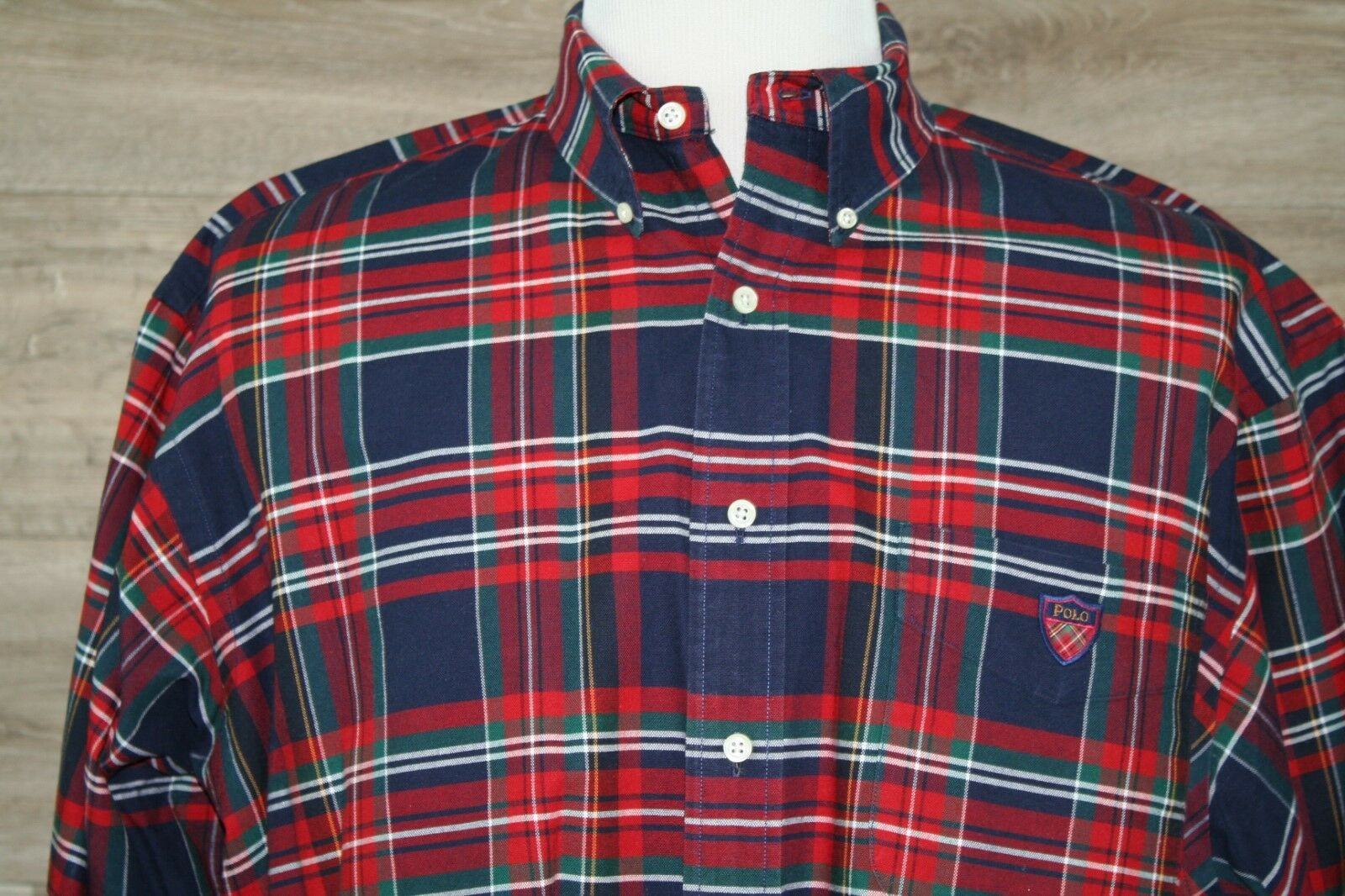Ralph Lauren MEN'S PLAID LONG SLEEVE BUTTON DOWN SHIRT SIZE L -