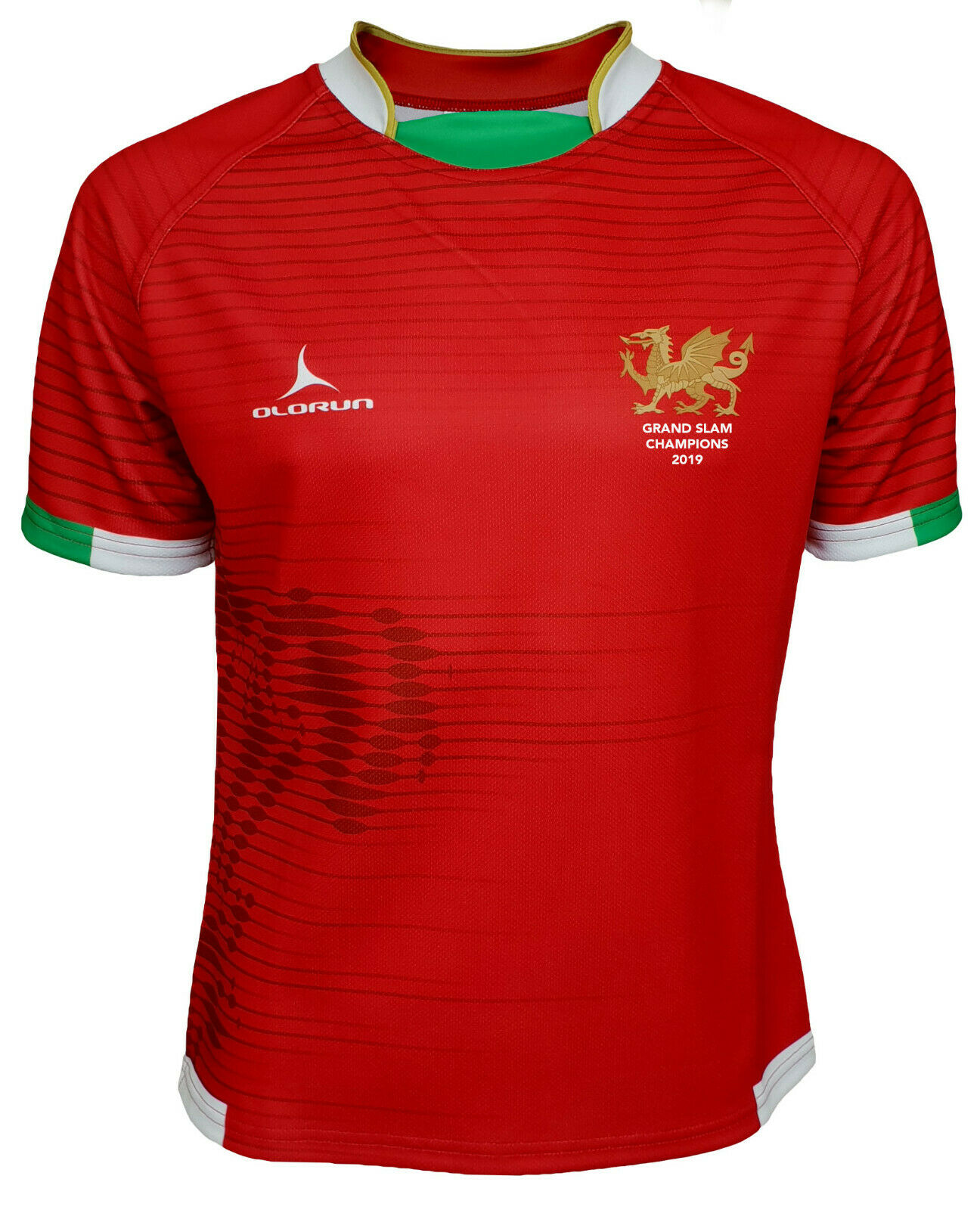 Olorun Wales Grand Slam 2019 Contour Home Nations Home Rugby Shirt XS - 6XL