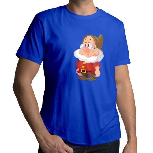 Snow White and the Seven Dwarfs Doc Disney Tee Mens Unisex Crew Neck Top T-Shirt