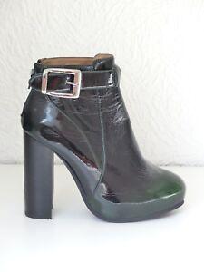 Ankle Grün Lack 5 Leather Green Patent Boots Campbell 38 Jeffrey Uwqpfp