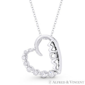 Sideways-Heart-CZ-Crystal-MOM-Script-925-Sterling-Silver-Rhodium-Journey-Pendant
