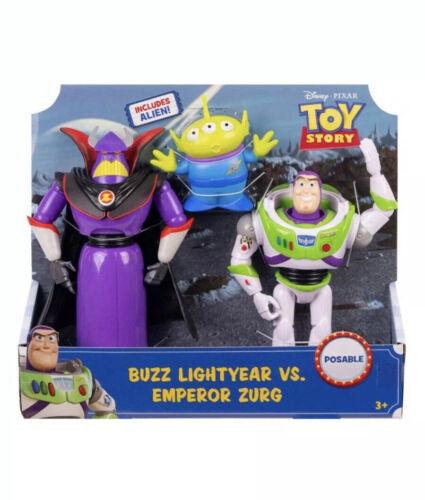 Includes Alien Toy Story Buzz Lightyear VS Emperor Zurg NEW Posable Figures