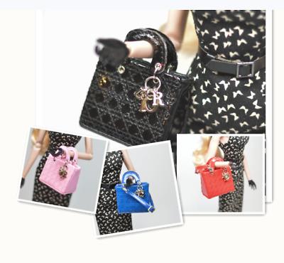Doll Purse Miniature Luxury handbag Blythe Barbie BJD Poppy Parker Baby Blue
