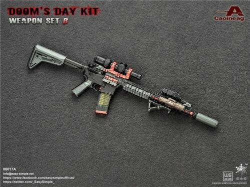 Facile /& semplice 06017 1//6th DOOM/'S DAY KIT II Pistola Arma giocattolo modello Set