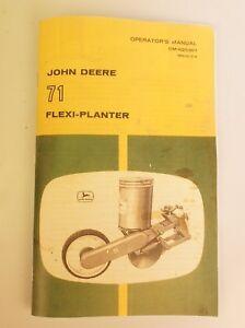 John-Deere-71-Flexi-Planter-Plate-Type-Seed-Planter-Owner-039-s-Operator-039-s-Manual