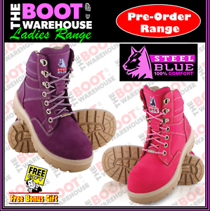 3bbc5c7d345 Details about Steel Blue Southern Cross LADIES 522760. Steel Toe Cap Safety  Work Boots.