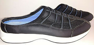 Shoes-EASY-SPIRIT-Mules-Womens-US-Size-7M-7-M-Medium-Comfort-Slip-ons-Black-Blue