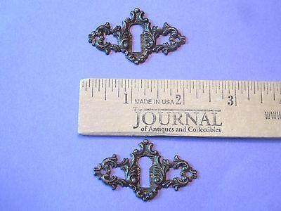 Fancy Victorian  Eastlake Brass Keyhole Cover #2