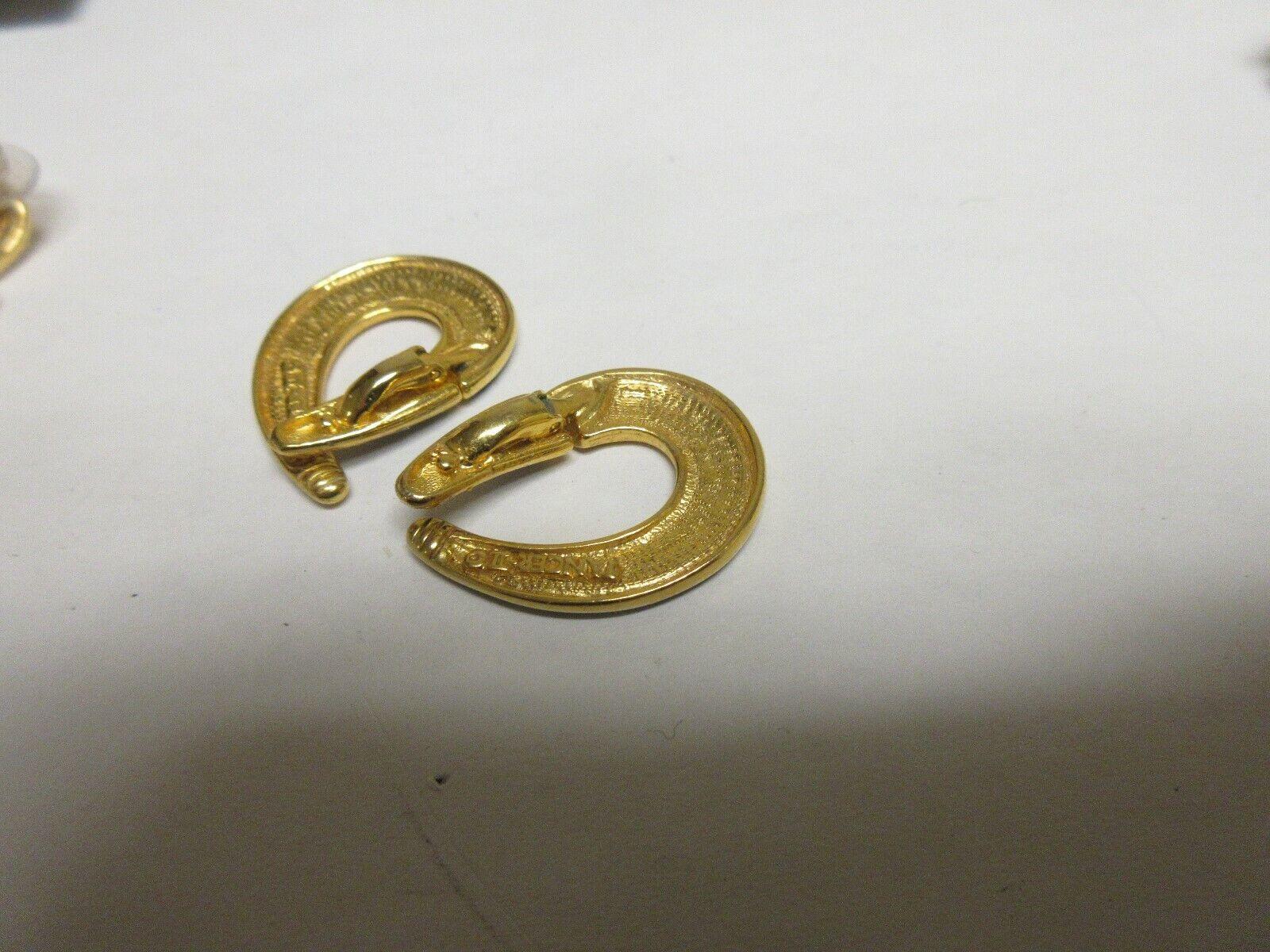 Costume Jewelry , Vintage , Earrings , Lot of 5 , Crown