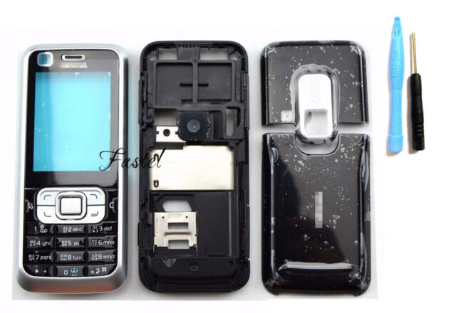 timeless design 4d579 a1ab6 Body Housing Cover Case Keypad for Nokia 6120c 6120 Classic Replacement  Black