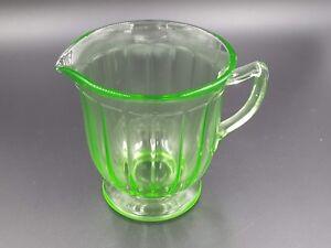 Vintage Depression Glass Green Vaseline Uranium Paneled ...