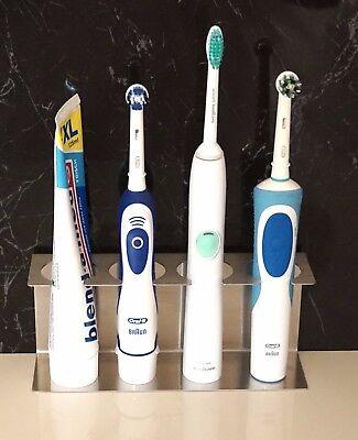 Badzubehör & -textilien Elektrische Zahnbürsten Sonderabschnitt Zahnbürstenhalter Für Bis Zu 4 Elektrische Zahnbürsten Edelstahl Zahnpastehalter äRger LöSchen Und Durst LöSchen