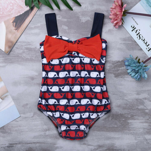 Baby Girls Bowknot Swimsuit Swimwear Bathing Surfing Swimming Costume Beachwear