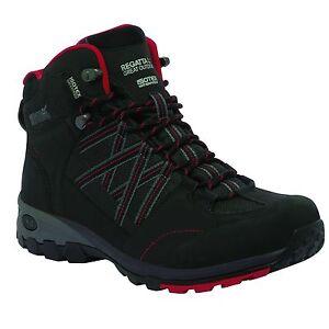 REGATTA-MENS-SAMARIS-MID-WALKING-TRAIL-WATERPROOF-BOOT-BLACK-CHINESE-RED-RMF509