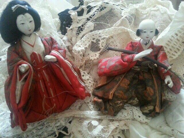 Antique Ningyō Japanese Doll Japan Asian Dolls Traditional Costume Gofun