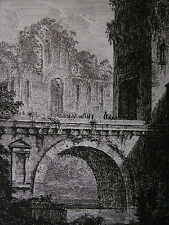 DOMENICO QUAGLIO ´RUINE EINES ALTEN GEBÄUDES AN EINER BRÜCKE´ TROST R 13, ~1806
