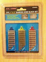 Cal-hawk 3 Three Piece 1 X 3 Inch Diamond Hone Block Set Knife Sharpening