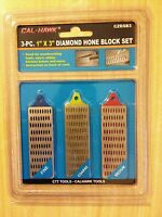 Cal-hawk 3 Three Piece 1 X 3 Inch Diamond Hone Block Set Knife Sharpening