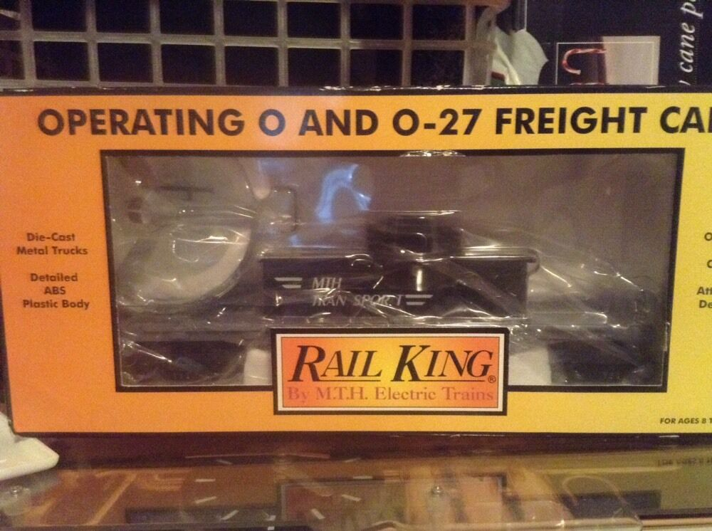 BRAND NEW IN BOX MTH 30-7658 Transport Flatcar w  Operating Helicopter