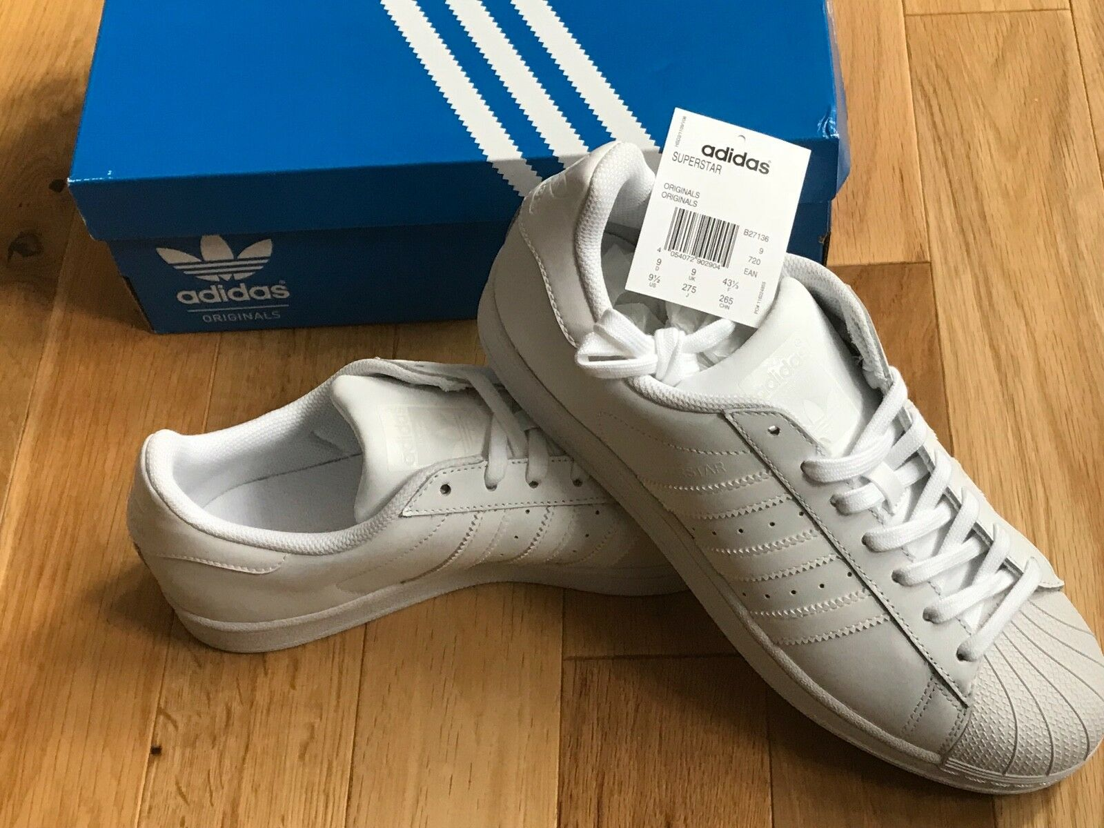 ADIDAS CLASSIC ORIGINALS  Herren SUPERSTAR FOUNDATION Weiß B27136 CLASSIC ADIDAS TRAINERS UK 7.5 df69a8