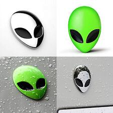 Auto Motorrad 3D ALIEN HEAD UFO Skull Aufkleber Schädel Metall Emblem Sticker
