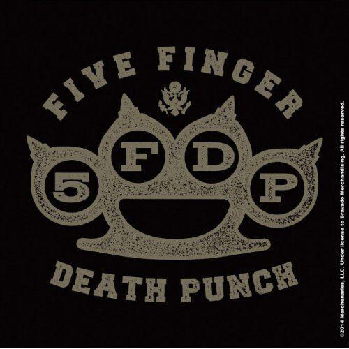 Five Finger Death Punch Brass Knuckle Coaster Cork Drinks Official Merchandise