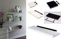 High Gloss Floating Wall Shelf Display Shelves Bookshelf CD Storage Wall Mounted