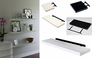 Image Is Loading High Gloss Floating Wall Shelf Display Shelves Bookshelf