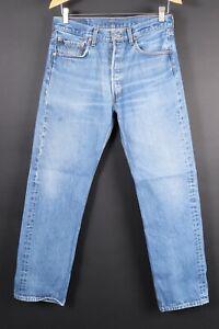 Vintage Levi's 501 Button Fly Denim Jeans Herren Gr. 33x34 aktuell (30x31)