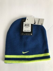 8c800a7cc8 Details about Youth Nike Beanie Knit Winter Reversible Running Soccer Sport  Hat $18 size 8/20