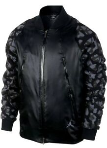 0d8385a4276fb6 NIKE AIR JORDAN FLIGHT MEMBER BASKETBALL JACKET XL  220 BLACK CAMO ...