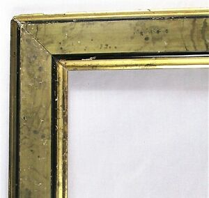 ANTIQUE-Fits-9-034-X-10-034-Black-amp-GOLD-GILT-WOOD-PICTURE-FRAME-FINE-ART-VICTORIAN