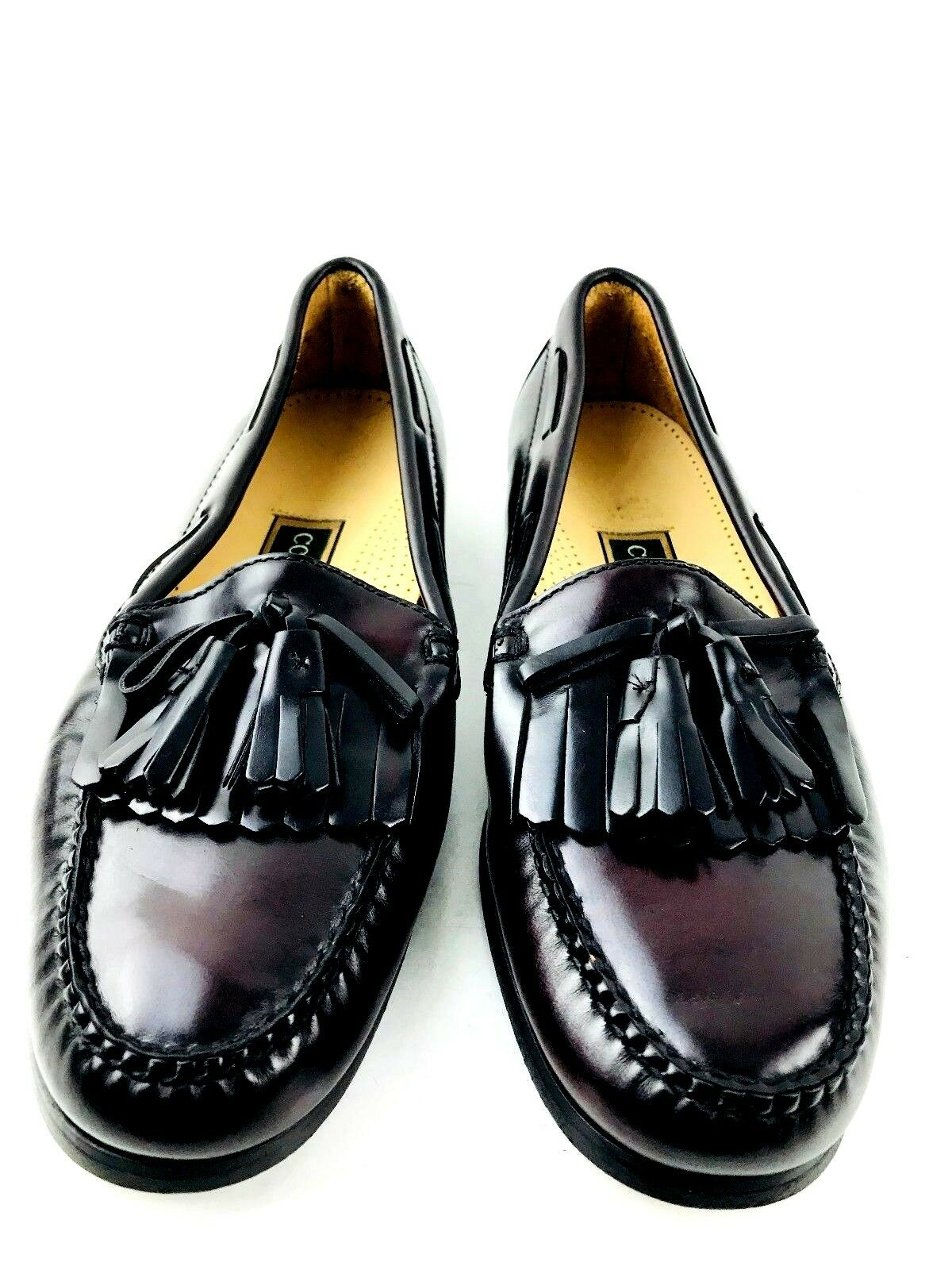 Cole Haan Kiltie Tassel Burgundy Loafer Größe US.8.5 UK.8 EU