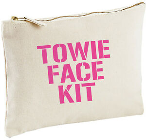 Image Is Loading Towie Face Kit Make Up Bag Funny Birthday