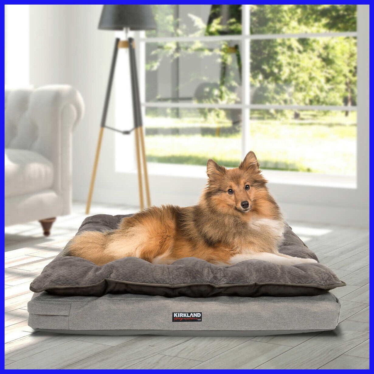 """[No Tax] KS 36"""" x 40"""" Pillow Top Orthopedic Pet Napper, Bed, Tan"""