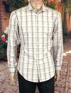 Calvin-Klein-Size-16-32-33-Men-039-s-Dress-Shirt-Slim-Fit-Long-Sleeve-100-Cotton