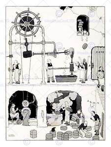 THE-MAN-HEATH-ROBINSON-ART-PRINT-POSTER-PICTURE-HP1098