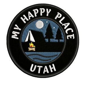 Patch Iron-On UTAH Tag Embroidery Applique