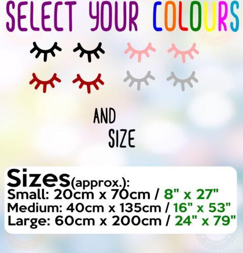 Scandi Cute Eyes Eyelashes Nordic Hygge Scandinavian Style Wall Sticker UK