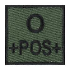 ÉCUSSON PATCH GROUPE SANGUIN O+ / O POS / O POSITIF avec DOS AUTO-AGRIPPANT