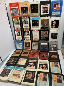 Lot-of-35-x-8-track-tapes-various-mostly-oldies-incl-platters-price-valli-Chapin