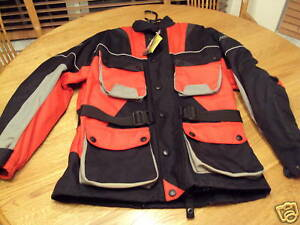 Men's S motorcycle jacket AGVsport shock absorbing NWT small NEW